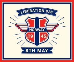 Einzigartiger norwegischer Tag der Befreiungs-Vektoren vektor