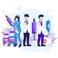 bekämpfe das Viruskonzept vektor