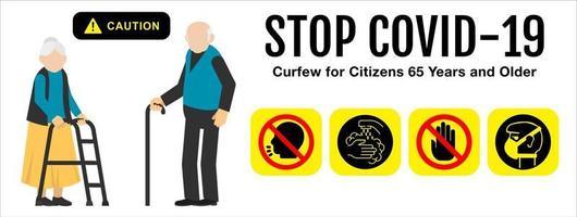 Coronavirus covid 19. Stoppen Sie das Coronavirus. vektor