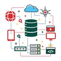 Speicherzentrierte Cloud-Engineering-Technologie vektor