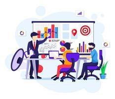 marknadsföringsstrategikoncept vektor