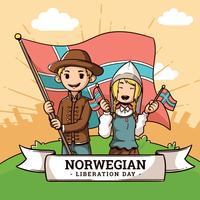 Norwegischer Tag der Befreiung vektor