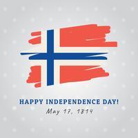 Norwegische Flagge feiert die Unabhängigkeit vektor