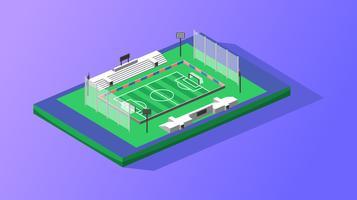 Isometrischer Fußball-Stadion-Vektor