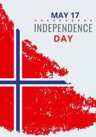 Norska Frihetsdagen Illustration vektor