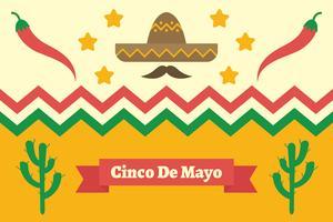 Cinco de Mayo Hintergrund vektor