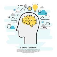 Brainstorming-Vektor-Illustration vektor
