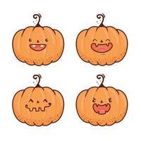 Set fröhliche Halloween gruselige Kürbisse