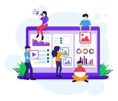 marknadsföring strategi kampanj koncept vektor