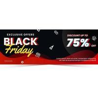 svart fredag försäljning banner rabatt vektor