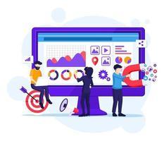 digital marknadsföringskoncept vektor