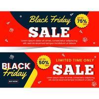 enkel banner försäljning för svart fredag säsong vektor