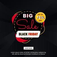 stor försäljningsbanner för svart fredag säsong vektor