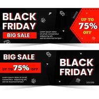 svart fredag banner designkoncept vektor