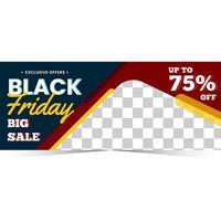 mall banner för svart fredag säsong vektor