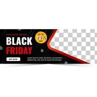 modern design för svart fredag banner försäljning vektor