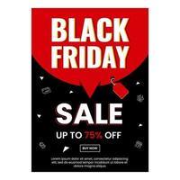 svart fredag affischdesign för ditt företag vektor
