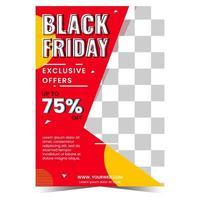 svart fredag försäljning banner med foto vektor