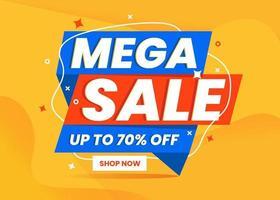 mega försäljning banner mall marknadsföring vektor
