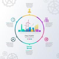 Infografik für Industrieunternehmen mit farbenfrohen Optionen