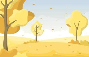 gyllene höst park scen med träd