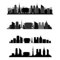 Tokio Skyline eingestellt vektor