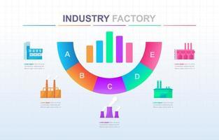 industriella affärer infographic med färgglada alternativ vektor