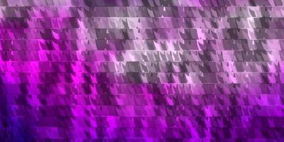 hellrosa, blaue Vektorbeschaffenheit mit Linien, Dreiecken. vektor