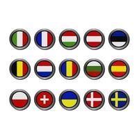 Satz europäische Flaggen vektor