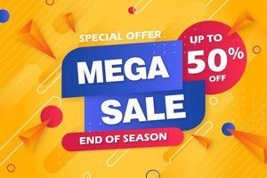 specialerbjudande mega försäljning banner bakgrundsmall vektor