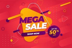 Sonderangebot Mega Sale Banner Hintergrundvorlage