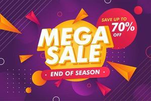 Sonderangebot Mega Sale Banner Promotion-Vorlage