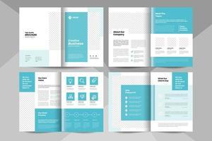 Vorlage für kreative Geschäftsbroschüren. Vorlage für Unternehmensbroschüren. vektor