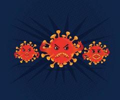 wütender Viruscharakter vektor
