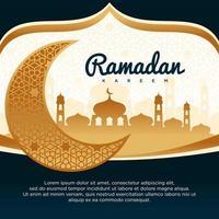 Ramadan Kareem Vektor Hintergrund