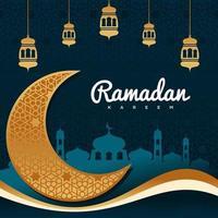 ramadan kareem vektor bakgrund