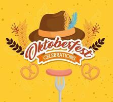 oktoberfest feier banner vektor