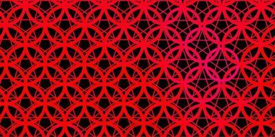 mörkrosa vektorbakgrund med ockulta symboler.