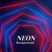 neon abstrakt färgglada geometriska polygon design vektor