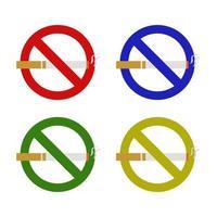 Satz des Rauchverbots auf weißem Hintergrund vektor