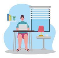 distansarbete, callcenter-agent som arbetar hemifrån