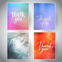 Sammlung von Dankeskarten vektor