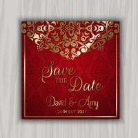 Dekorativ Save the Date Design vektor