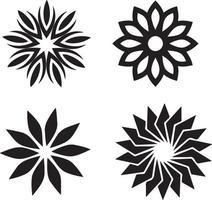 Vektorillustration von Hand gezeichneten Kränzen. niedliche Gekritzel Blumenkranz Rahmen Set vektor