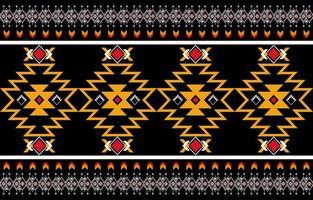 nahtloser Vektor des abstrakten orange und roten geometrischen nativen Musters. geometrisch wiederholen