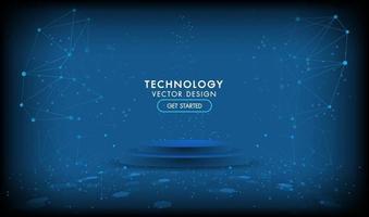 abstrakte Technologie Bühne Produkt Hintergrund Hi-Tech-Kommunikationskonzept, Technologie vektor