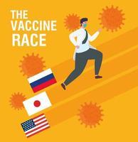 loppet mot coronavirusvaccinet vektor