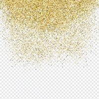 Gold Konfetti Hintergrund vektor