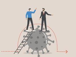 företagsledare efterlyser en ekonomisk färdplan efter covid vektor