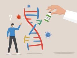 die Angst, dass ein Impfstoff Ihre DNA irgendwie verändern wird vektor